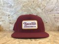 BRIXTON - Grade Snap Back (BUGUNDY)