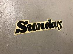 画像1: Sunday Classy Sticker (Black)