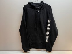 画像1: Cult Pattern Zip-Up Hoodie