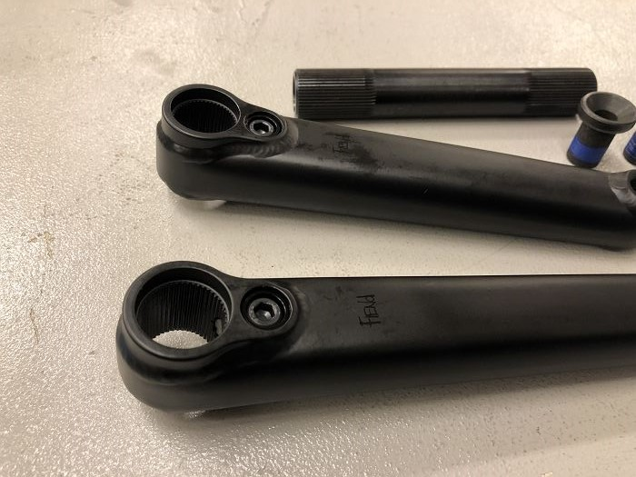 FIEND SEGMENT CRANK BLACK OR CHROME 175MM 3 PIECE BMX CRANKS FIT CULT KINK PRIMO